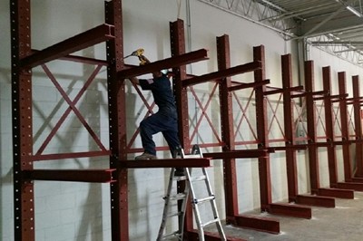 Used Cantilever Rack Installation