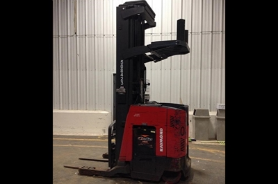 "Used Raymond EAS1R40TT Reach Trucks - 267"" Lift Height"
