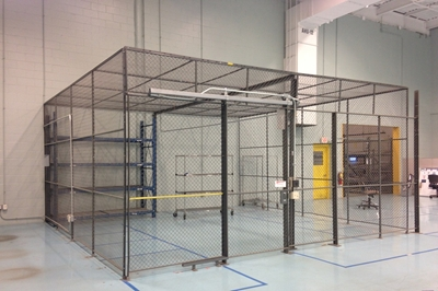 "Used Wire Security Cage - 96"" Tall"