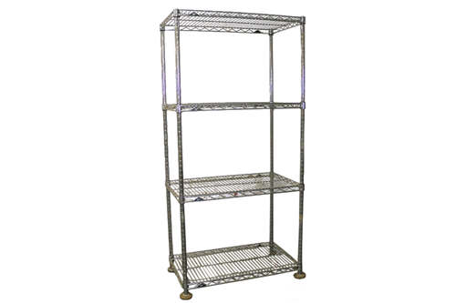 A fully assembled Metro wire shelf