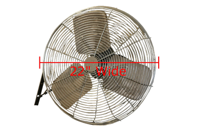 Used Wall Mounted Fans - 22""
