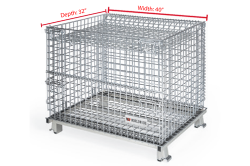 Medium WorldTainer Wire Basket Hanged Lids