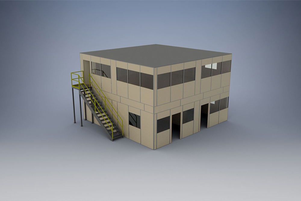 Used Inplant Office - 2 Level Plan