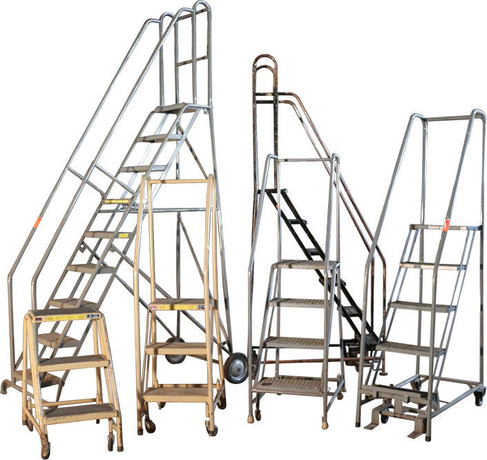 Used Rolling Ladders are available in a variety of sizes from American Surplus!