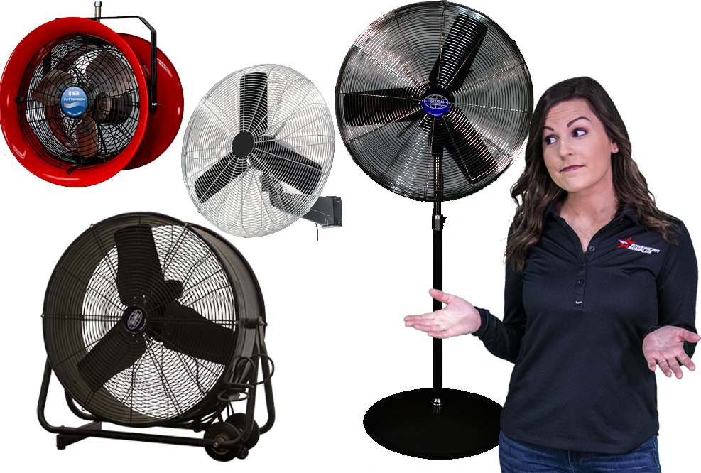 Not sure which type of warehouse fan for you? Start here!