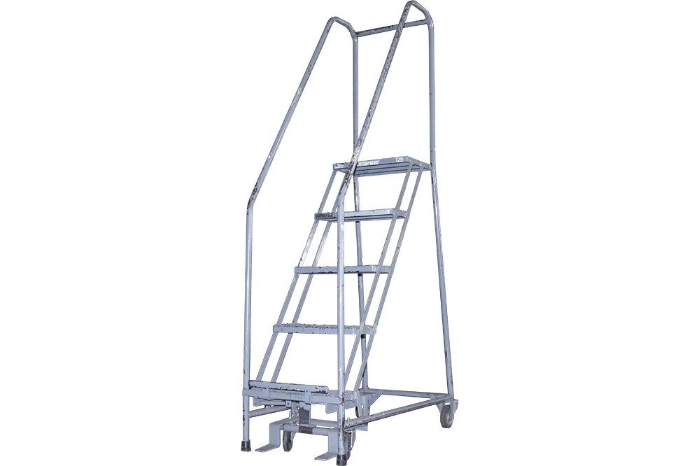 Stupendous Used Cotterman 5 Step Rolling Ladders Spiritservingveterans Wood Chair Design Ideas Spiritservingveteransorg