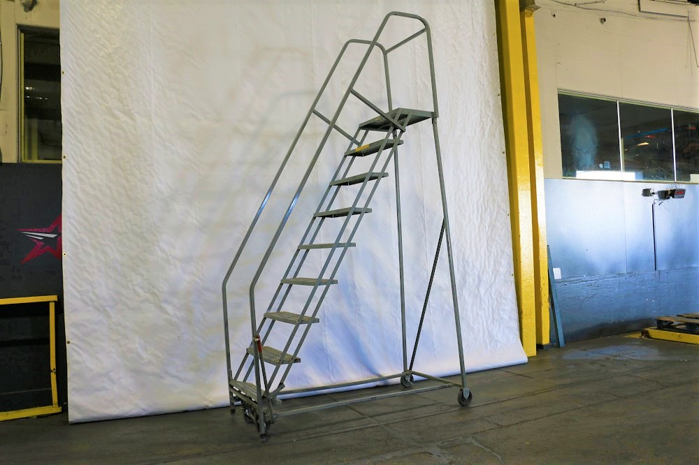Used Cabinets For Sale >> Used Rolling Ladders