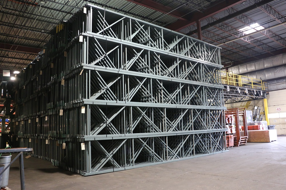Used Teardrop Pallet Rack Frames