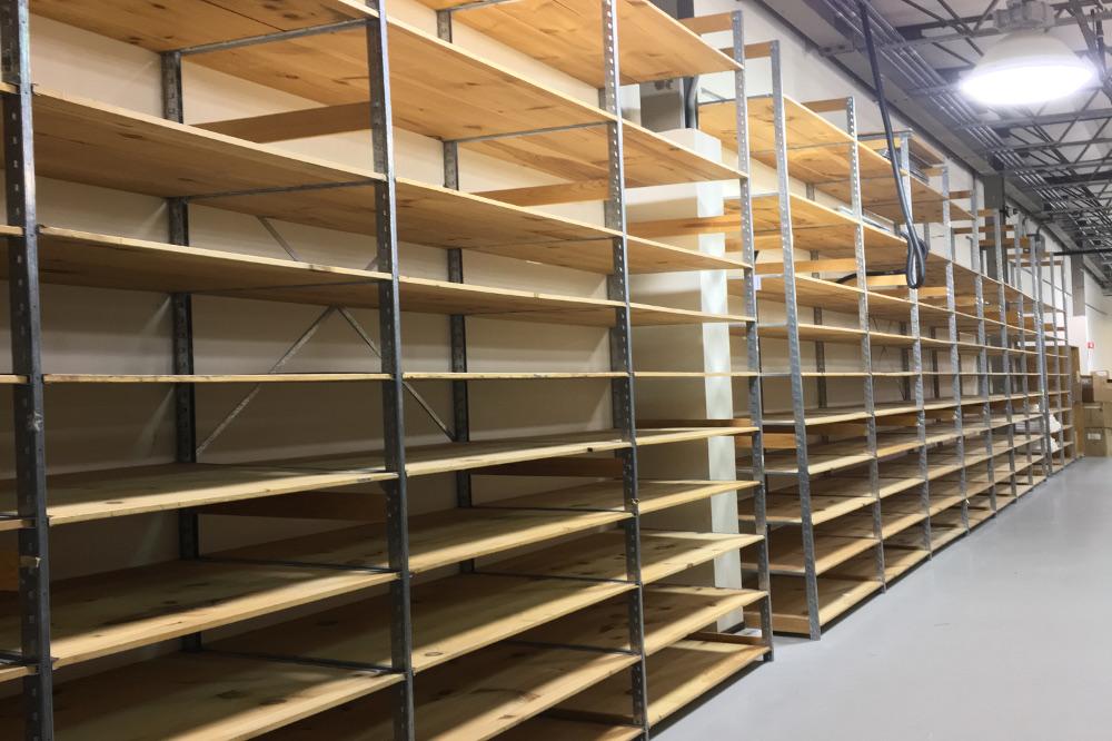 Used Schaeffer Wood Deck Shelving